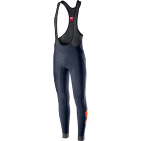 Castelli Velocissimo 4 Culotte largo con tirantes Hombre, dark/steel blue/orange